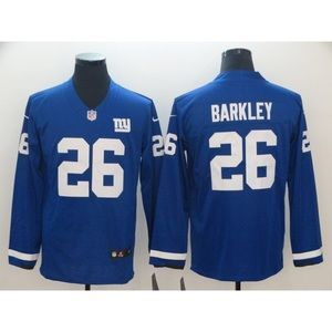 New York Giants Saquon Barkley Long Sleeve Jersey